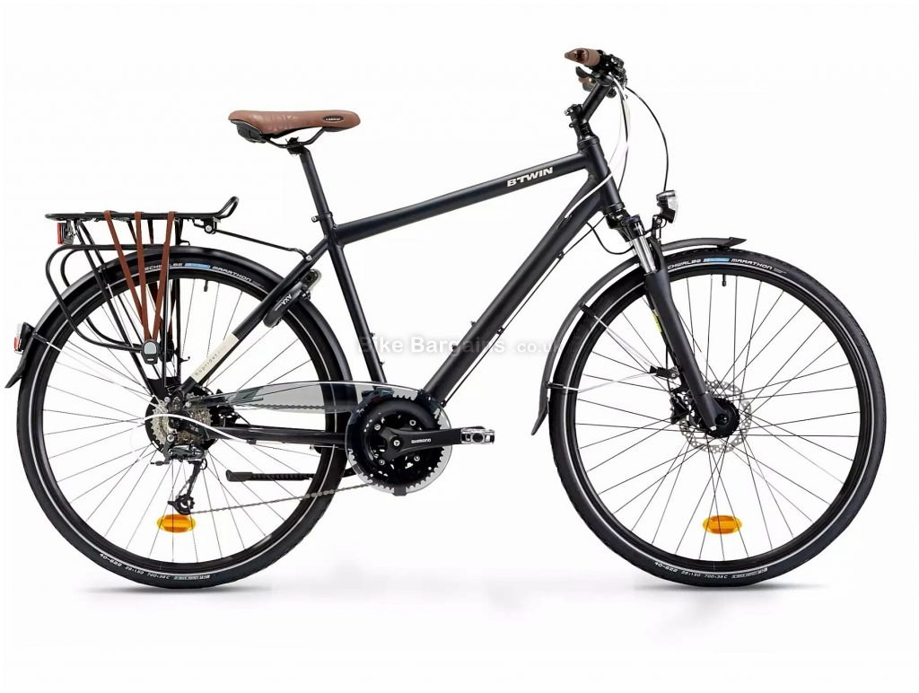 B'Twin Elops Hoprider 900 Urban Hybrid Bike L, Black, Alloy Frame, 27 Speed, Disc Brakes, Triple Chainring, 19.3kg, 700c Wheels