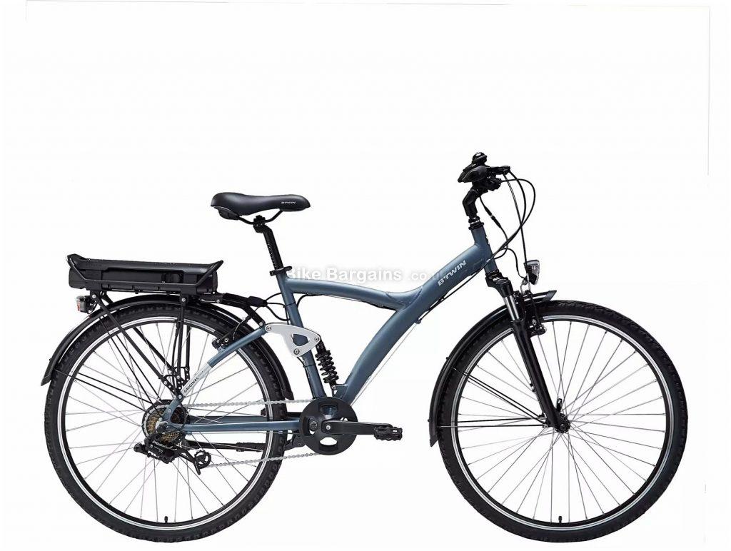 "B'Twin Riverside Original 920 E Electric Hybrid Bike M,L, Black, Blue, Alloy Frame, 7 Speed, Caliper Brakes, Single Chainring, 25.5kg, 26"" or 700c Wheels"