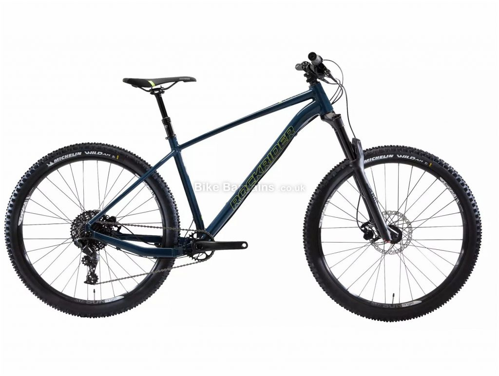 "B'Twin Rockrider AM 100 SRAM NX 27.5 Hardtail Mountain Bike L, Blue, Black, Alloy Frame, 11 Speed, Disc Brakes, Single Chainring, 13kg, 27.5"" Wheels"