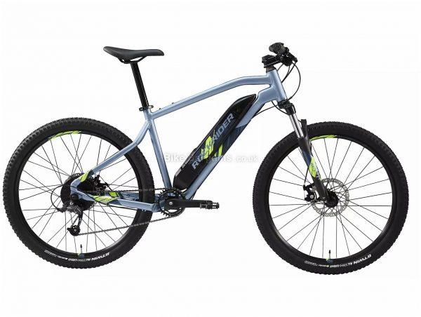 "B'Twin Rockrider E-ST 100 27.5"" Electric Mountain Bike XL, Blue, Black, Alloy Frame, 8 Speed, Disc Brakes, Single Chainring, 22.5kg, 27.5"" Wheels"