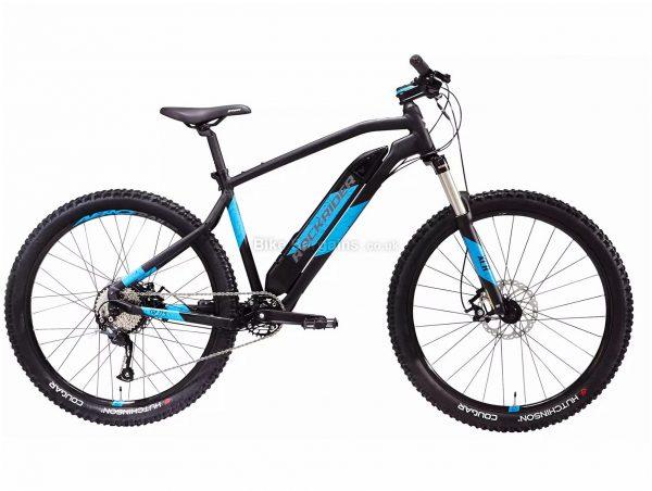 "B'Twin Rockrider E-ST500 27.5"" Electric Mountain Bike M,L, Blue, Black, Alloy Frame, 9 Speed, Disc Brakes, Single Chainring, 22.1kg, 27.5"" Wheels"