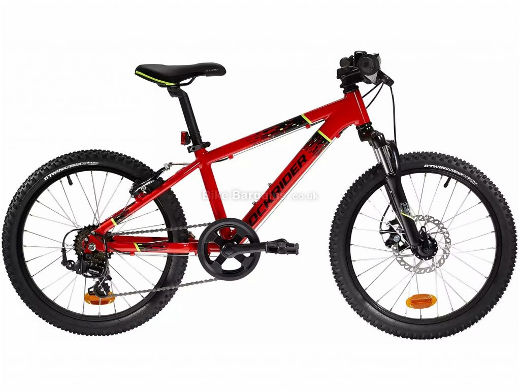 "B'Twin Rockrider ST 900 Kids Alloy 20"" Mountain Bike One Size, Red, Black, Alloy Frame, 6 Speed, Disc Brakes, Single Chainring, 11.7kg, 20"" Wheels"