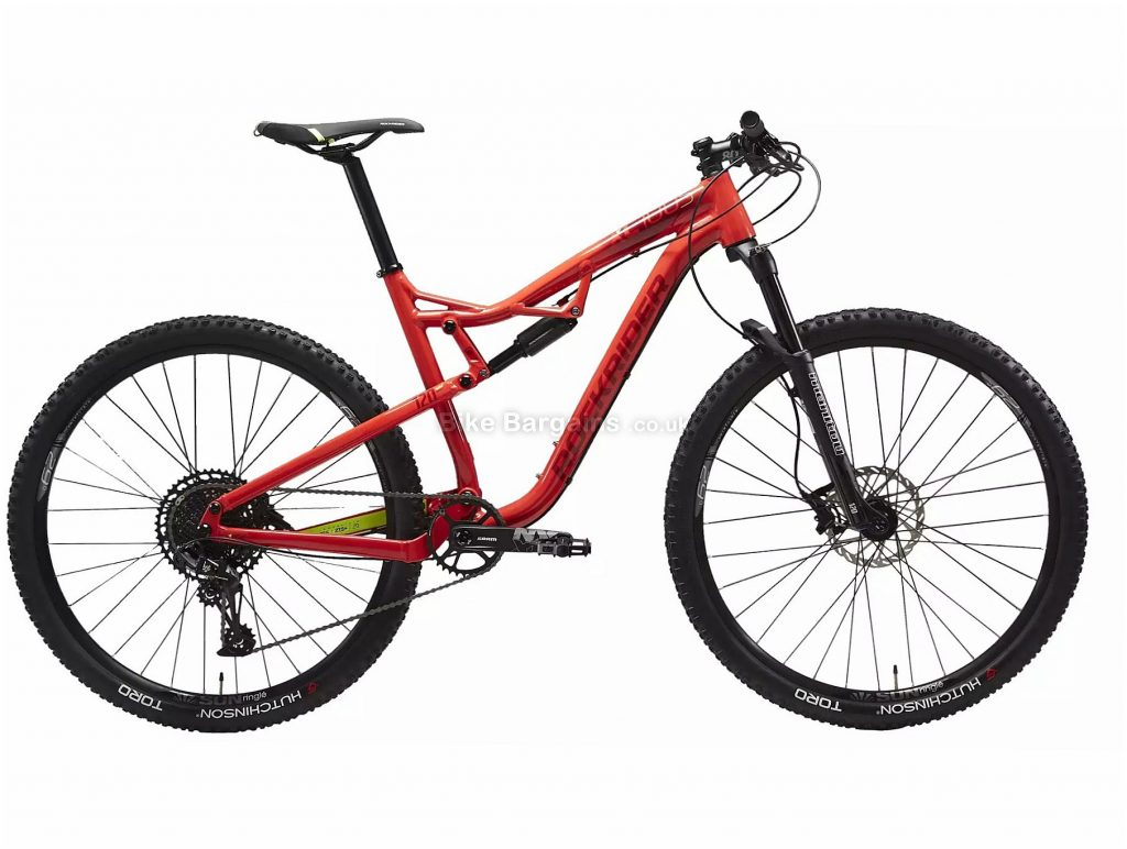 "B'Twin Rockrider XC 100 S NX Eagle 29"" Full Suspension Mountain Bike M, Red, Black, Alloy Frame, 12 Speed, Disc Brakes, Single Chainring, 13.4kg, 29"" Wheels"