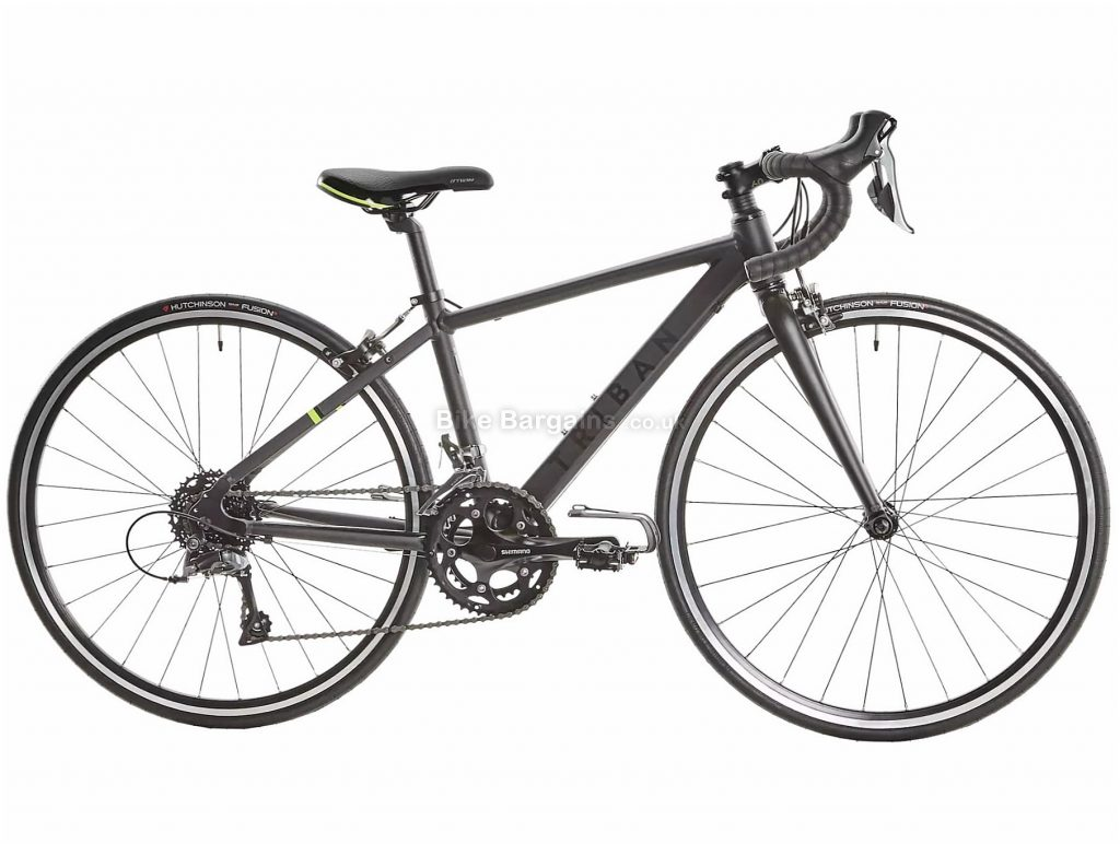 "B'Twin Triban 500 Claris 26"" Junior Road Bike One Size, Grey, Black, Alloy Frame, 16 Speed, Caliper Brakes, Double Chainring, 10kg, 26"" Wheels"