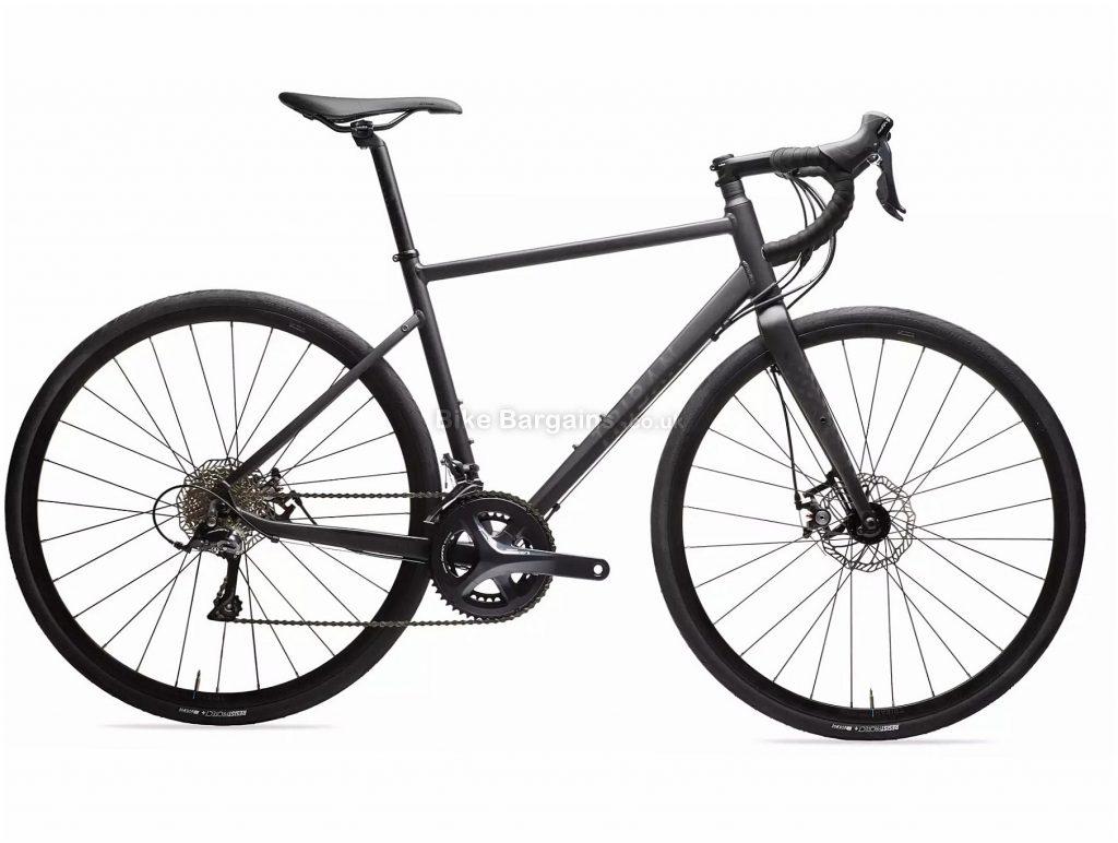 B'Twin Triban RC 500 Disc Sora Road Bike XS, Black, Alloy Frame, 18 Speed, Disc Brakes, Double Chainring, 700c Wheels
