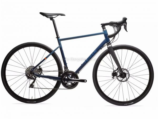B'Twin Triban RC 520 Disc 105 Road Bike XL, Blue, Black, Alloy Frame, 22 Speed, Disc Brakes, Double Chainring, 700c Wheels