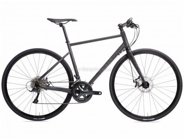 B'Twin Triban RC500 Flat Bar Sora Road Bike L,XL, Black, Alloy Frame, 18 Speed, Disc Brakes, Double Chainring, 10.7kg, 700c Wheels