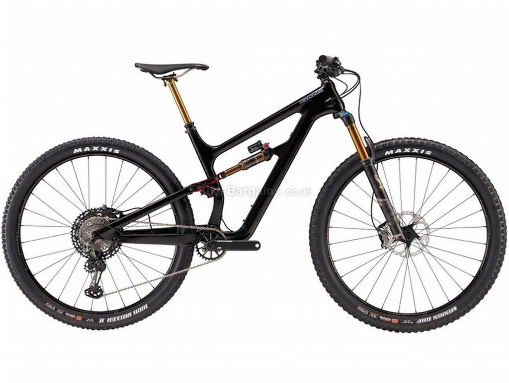 "Cannondale Habit Carbon 1 Full Suspension Mountain Bike 2019 M, Black, Carbon, Full Suspension, Disc Brakes, 12 Speed, 27.5"", 29"", Men's, Single Chainring"