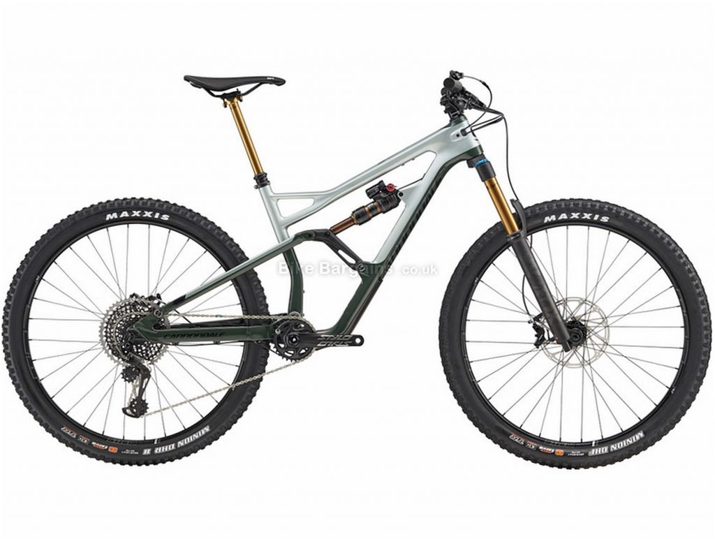 "Cannondale Jekyll Carbon 1 Full Suspension Mountain Bike 2019 M, Grey, Black, Carbon, Full Suspension, Disc Brakes, 12 Speed, 27.5"", Men's, Single Chainring"