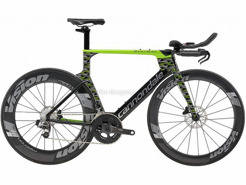 Cannondale SuperSlice Red eTap Carbon Road Bike 2019 52cm, Green, Black, Grey, Carbon, Disc Brakes, 22 Speed, 700c, Men's, Double Chainring