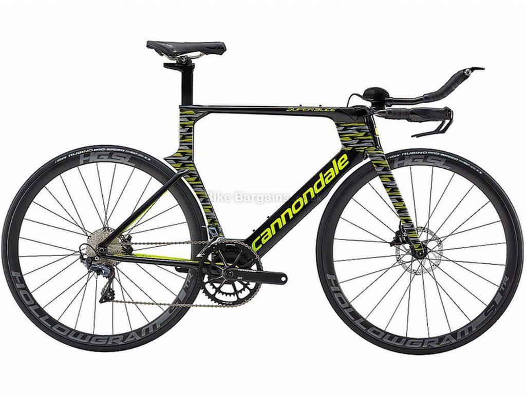 Cannondale SuperSlice Ultegra Carbon Road Bike 2019 50cm, Black, Yellow, Carbon, Disc Brakes, 22 Speed, 700c, Men's, Double Chainring