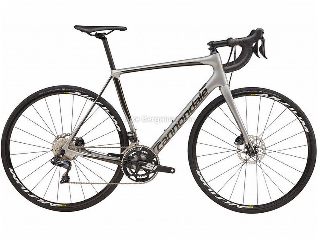 Cannondale Synapse Carbon Ultegra Di2 Road Bike 2019 58cm, Grey, Black, Carbon, Disc Brakes, 22 Speed, 700c, Men's, Double Chainring