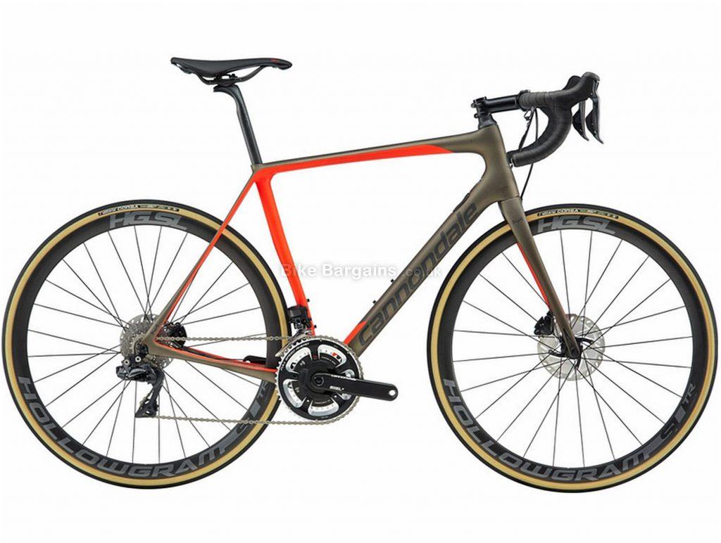 Cannondale Synapse Hi-Mod Disc Dura-Ace Di2 Carbon Road Bike 2019 56cm, Grey, Orange, Carbon, Disc Brakes, 22 Speed, 700c, Men's, Double Chainring