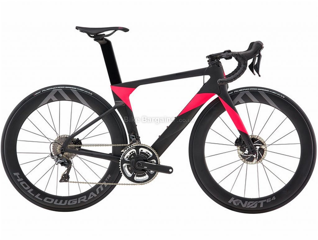 Cannondale Systemsix Hi-Mod Dura-Ace Ladies Carbon Road Bike 2019 51cm, Black, Red, Carbon, Disc Brakes, 22 Speed, 700c, Ladies, Double Chainring