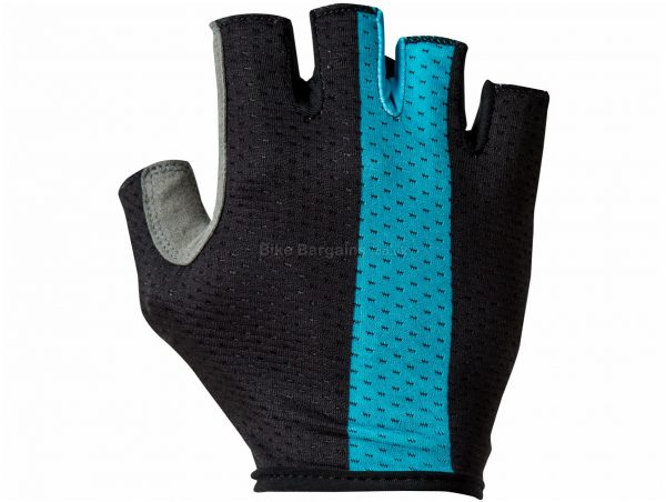 Castelli Team Sky Track Mitts XXL, Black, Turquoise, Lightly Padded Palm, Men's, Mitts, Polyester, Elastane, Polyamide, Polyurethane , Road