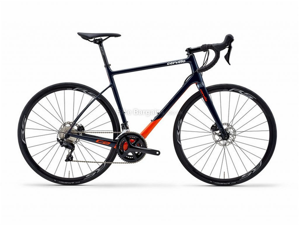 Cervelo C2 105 Carbon Road Bike 2020 61cm, Black, Red, Carbon Frame, Disc Brakes, 22 Speed, Men's, 105 Groupset, 700c Wheels, Double Chainring