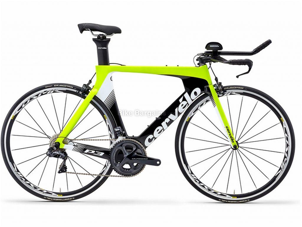 Cervelo P3 Ultegra Di2 Carbon Road Bike 2019 51cm, Yellow, Black, White, Carbon, Caliper Brakes, 22 Speed, 700c, Men's, Double Chainring