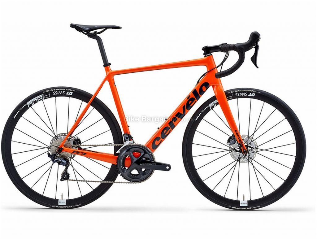 Cervelo R3 Disc Ultegra Carbon Road Bike 2020 48cm, Orange, Black, Carbon Frame, Disc Brakes, 22 Speed, Men's, Ultegra Groupset, 700c Wheels, Double Chainring