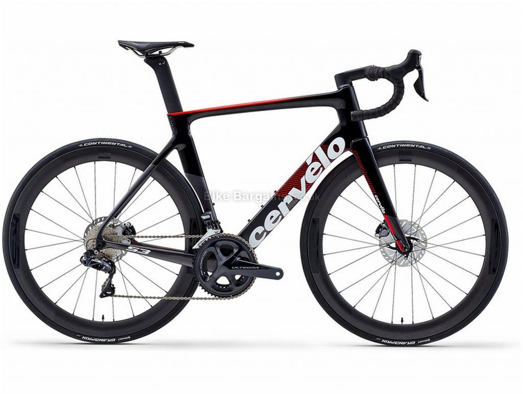 Cervelo S3 Disc Ultegra Di2 Carbon Road Bike 2020 48cm, Black, Red, White, Carbon Frame, Disc Brakes, 22 Speed, Men's, Ultegra Groupset, 700c Wheels, Double Chainring
