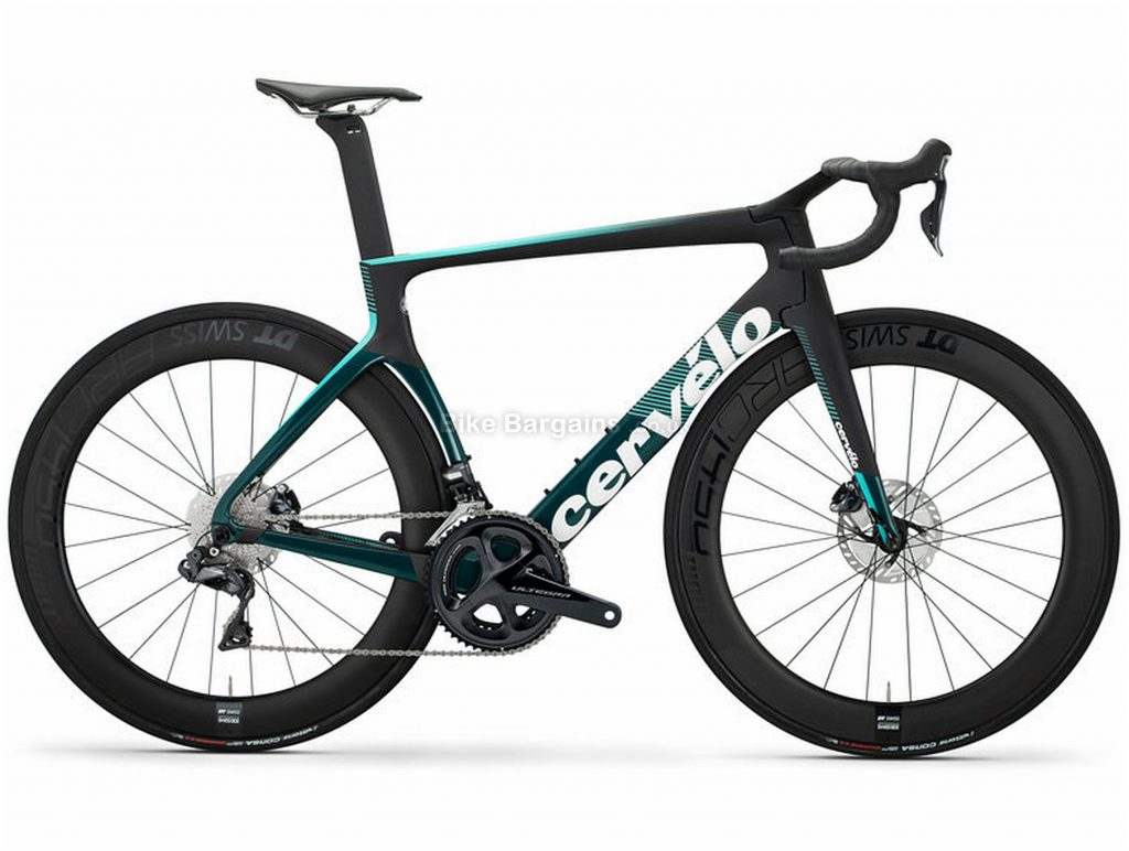 Cervelo S5 Disc Ultegra Di2 Carbon Road Bike 2020 54cm, Black, Turquoise, White, Carbon Frame, Disc Brakes, 22 Speed, Men's, Ultegra Groupset, 700c Wheels, Double Chainring