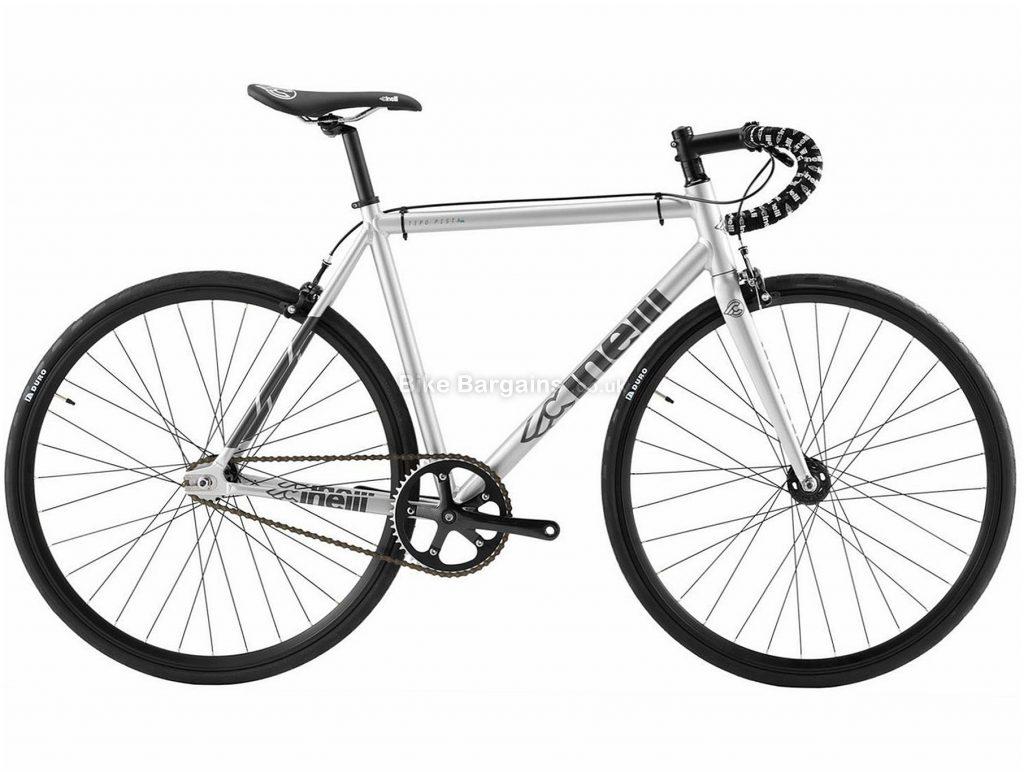 Cinelli Tipo Pista Road Bike 2018 50cm, Silver, Alloy, 700c, Caliper Brakes, Single Chainring, Single Speed