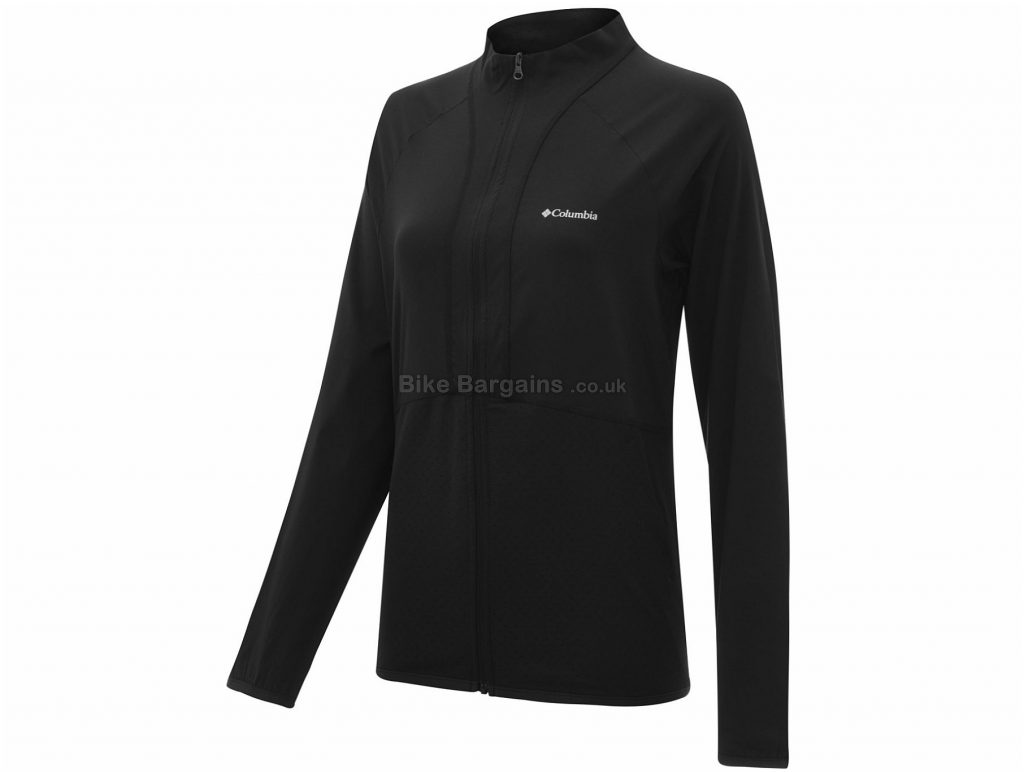 Columbia Ladies Bryce Peak Full Zip Fleece XS, Black, Water-Resistant Finish, Breathable, Long Sleeve, Nylon, Elastane
