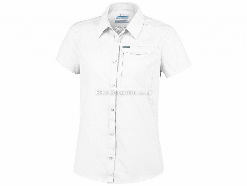 Columbia Ladies Silver Ridge 2.0 Short Sleeve Shirt S, White, Sun Protection, Short Sleeve, Polyamide