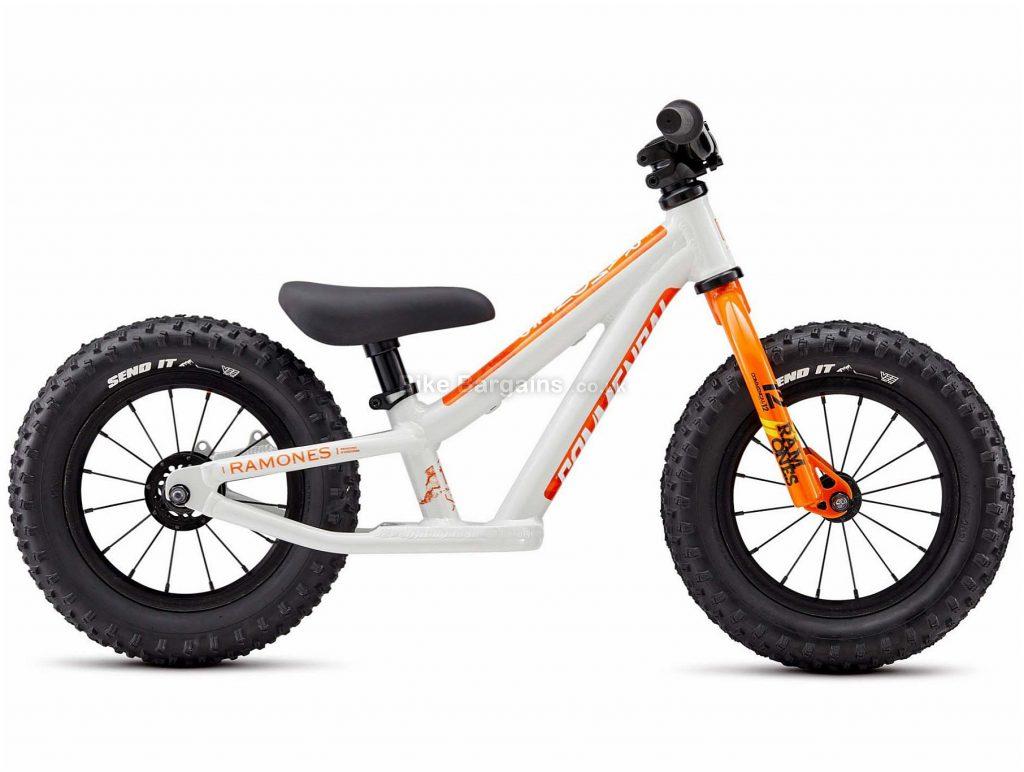 "Commencal Ramones 12"" Kids Bike 2020 One Size, White, Orange, Red, Alloy, Steel, 12"", Single Speed"