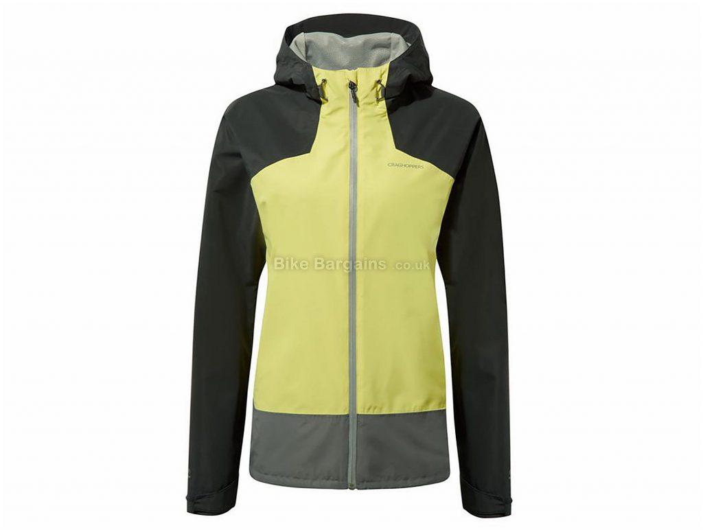 Craghoppers Ladies Apex Jacket 8,18, Grey, Yellow, Waterproof. Breathable, Long Sleeve, weighs 445g, Polyester