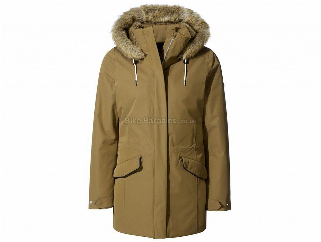 Craghoppers Ladies Josefine Jacket 14, Brown, Waterproof, Long Sleeve, Cotton, Polyester, Polyamide, Acrylic