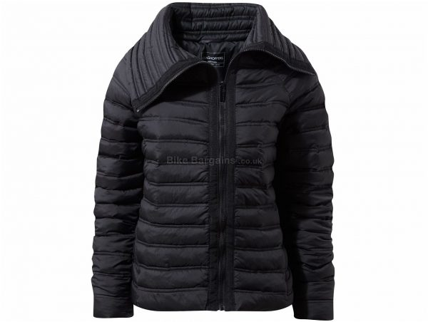 Craghoppers Ladies Moina Jacket 8, Black, Water Resistant, Long Sleeve, weighs 605g, Polyester