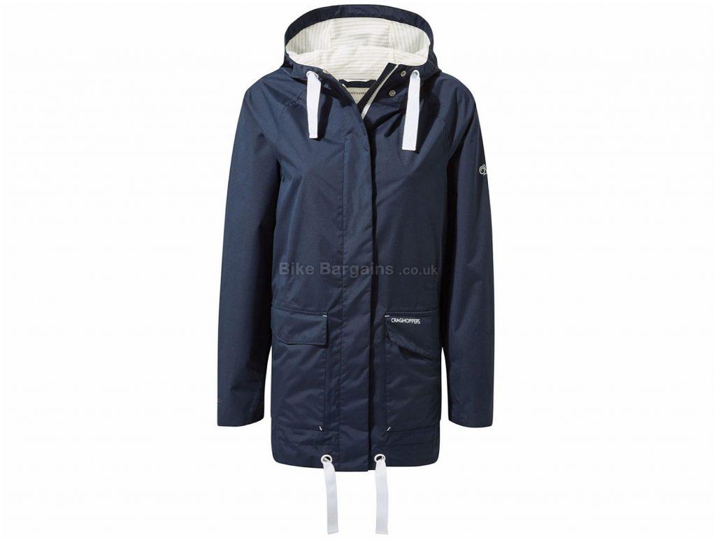 Craghoppers Ladies Sorrento Jacket 14, Blue, Waterproof, 6 Pockets, Ladies, Long Sleeve, Polyester
