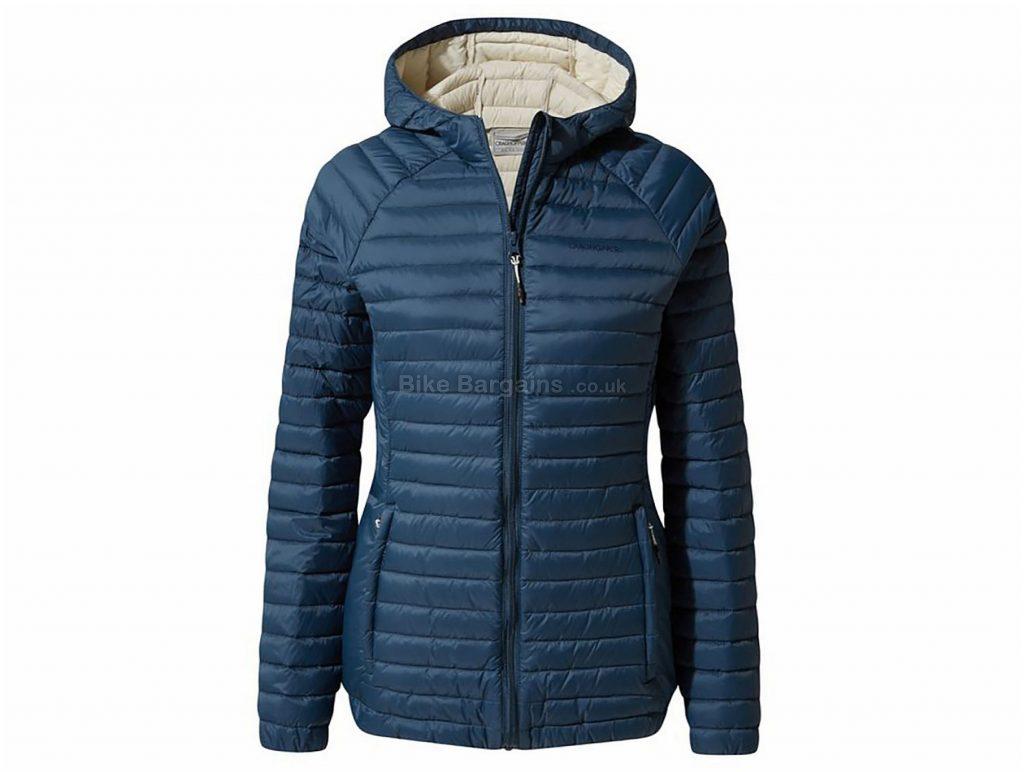 Craghoppers Ladies Venta Lite Hooded Jacket 8, Blue, Windproof, Water Resistant, 4 Pockets, Ladies, Long Sleeve, Polyester, Polyamide