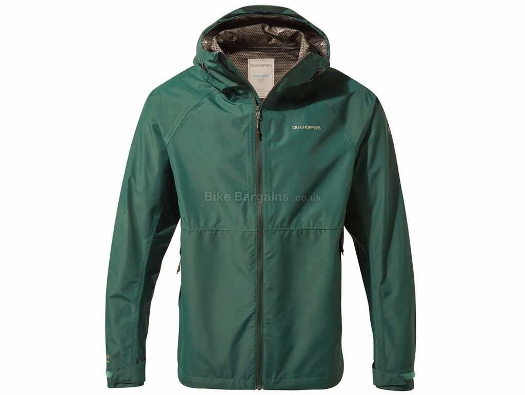 Craghoppers Remus Jacket XXL, Green, Waterproof, Breathable, Men's, Long Sleeve, 340g, Polyester