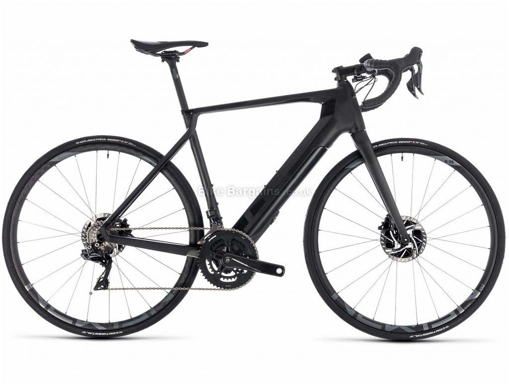 Cube Agree Hybrid C:62 SLT Disc Electric Road Bike 2019 56cm, Black, Carbon Frame, Disc Brakes, 22 Speed, Double Chainring, 700c Wheels, 12.8kg