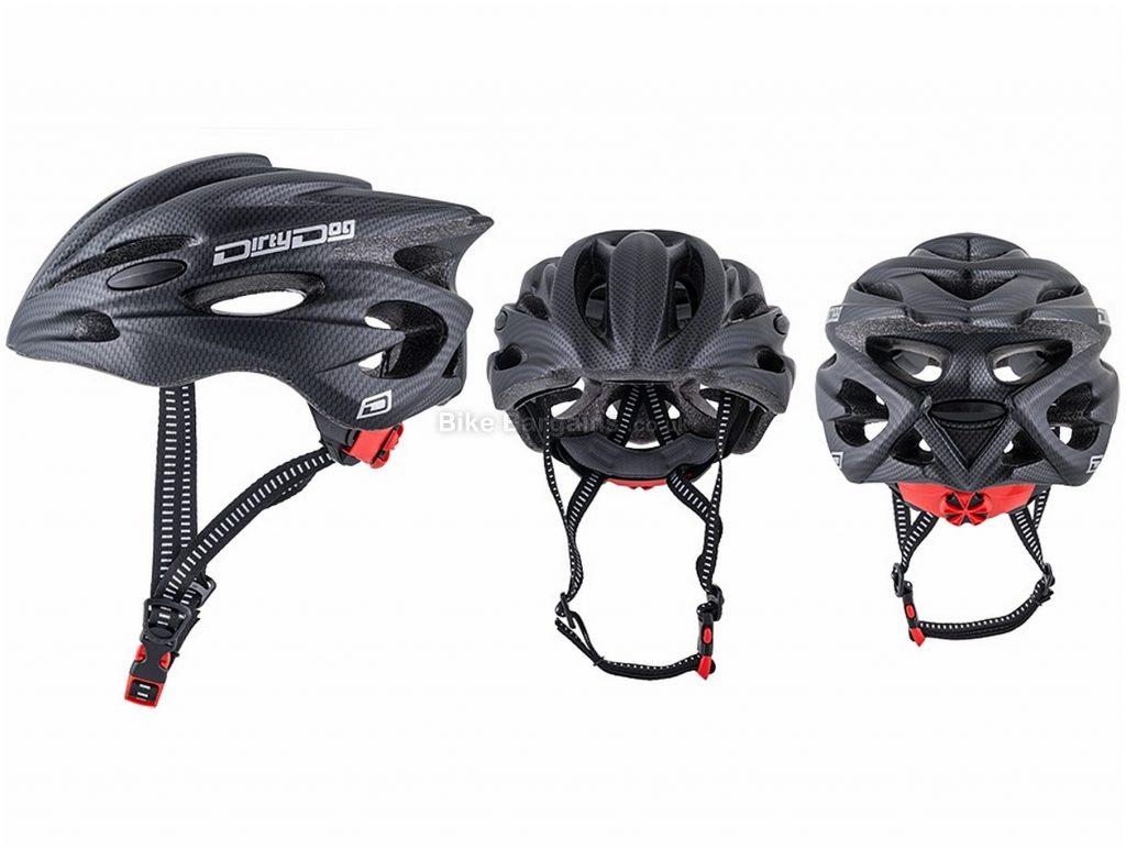 Dirty Dog Trident Helmet One Size, Black, Adjustable Fit System, 21 vents, Men's, Polystyrene, Polycarbonate
