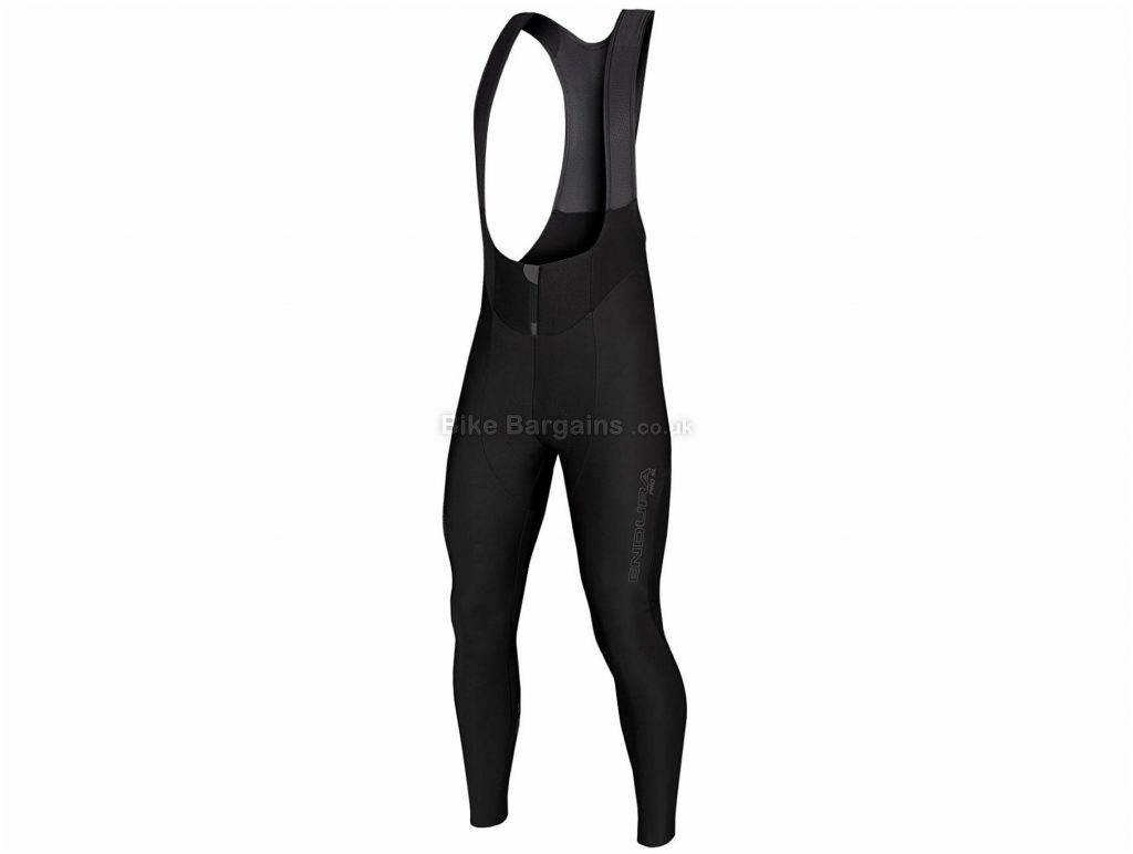 Endura Pro SL DWR II Bib Tights XL, XXL, Black, Men's, Elastane, Polyamide, Polyester, Polyurethane, Breathable, Water Repellent, Tight Fit