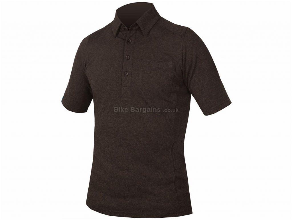 Endura Urban Concrete Polo Shirt XL, Black, Soft Wool Blend, Men's, Short Sleeve, Polyester, Wool, Road, MTB