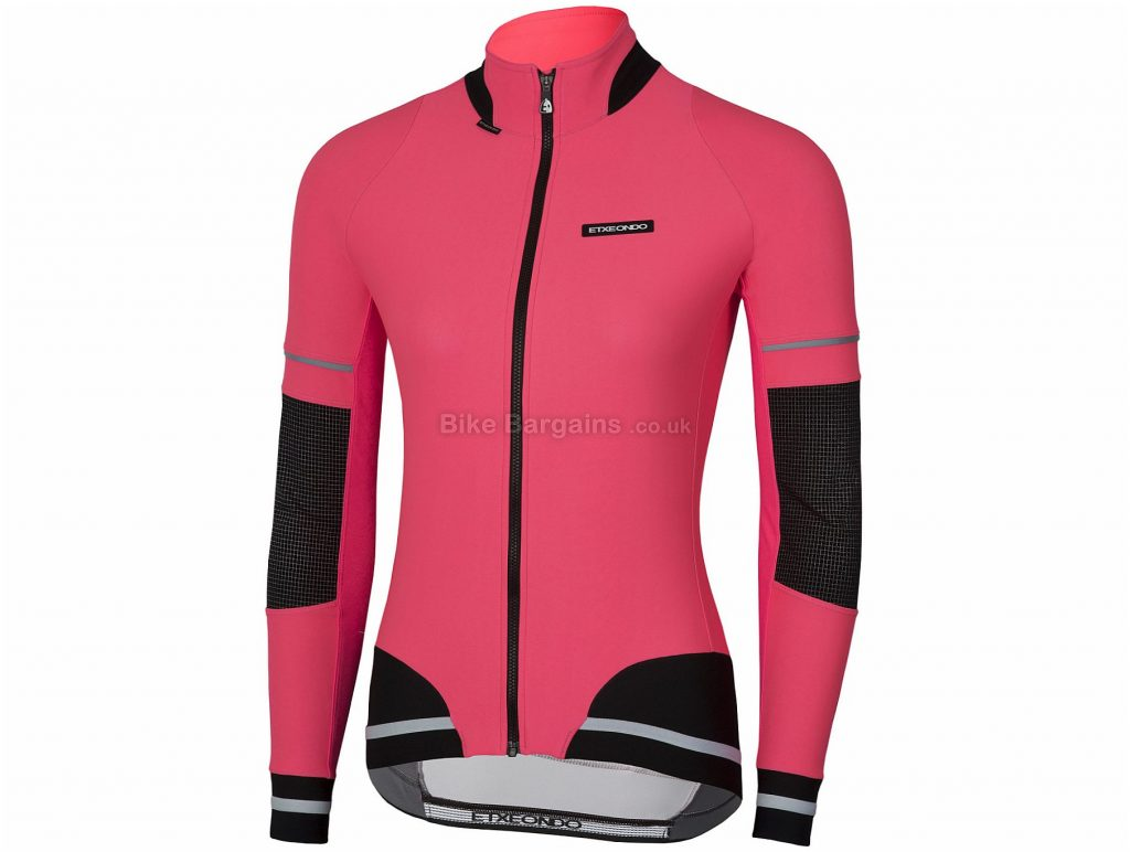 Etxeondo Ladies Sekura Windstopper Jacket M, Pink, Black, Windproof, Ladies, Long Sleeve, Polyamide, Polyester, Elastane