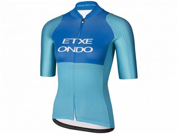 Etxeondo Ona Aero Ladies Short Sleeve Jersey XXL, Blue, Pink, Aerodynamic, Lightweight, Ladies, Short Sleeve, Polyester, Polyester, Elastane