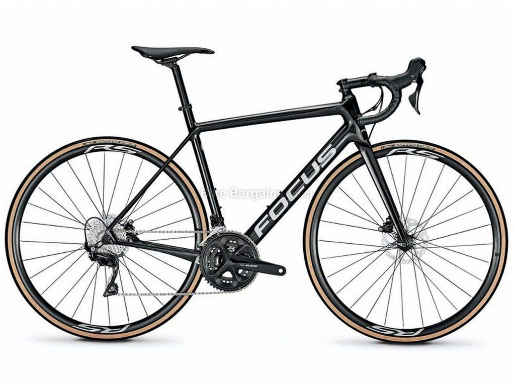Focus Izalco Race Disc 9.7 Carbon Road Bike 2020 S, Black, Carbon Frame, Disc Brakes, 22 Speed, Men's, 105 Groupset, 700c Wheels, Double Chainring