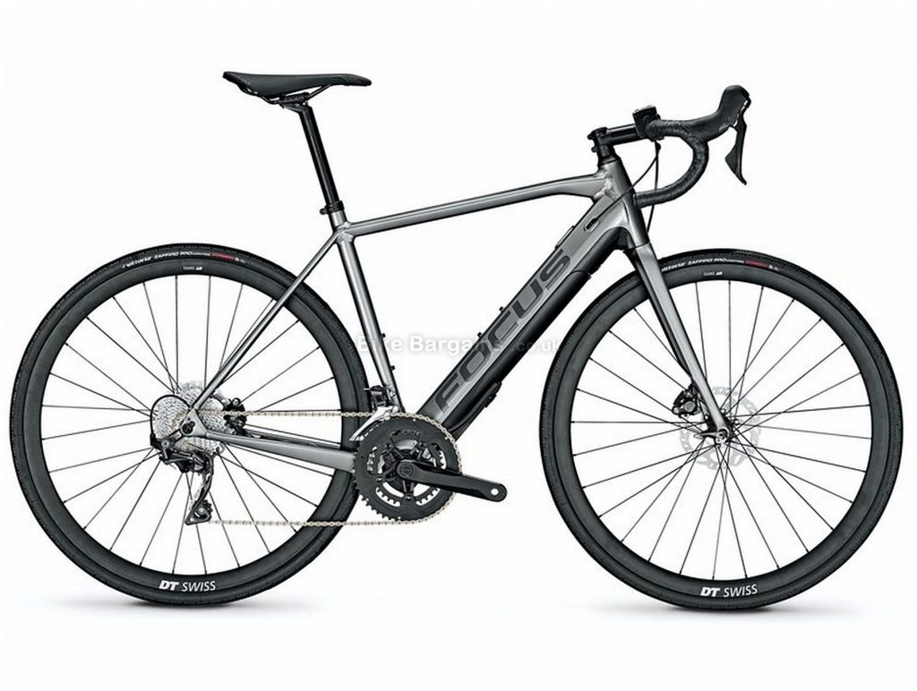 Focus Paralane2 6.9 Alloy Electric Bike 2020 51cm,54cm, Grey, Black, Alloy Frame, Disc Brakes, 22 Speed, Men's, Ultegra Groupset, 700c Wheels, Double Chainring