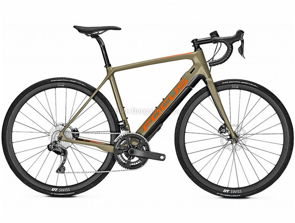 Focus Paralane2 9.8 Carbon Electric Bike 2020 57cm, Brown, Black, Carbon Frame, Disc Brakes, 22 Speed, Men's, Ultegra Groupset, 700c Wheels, Double Chainring