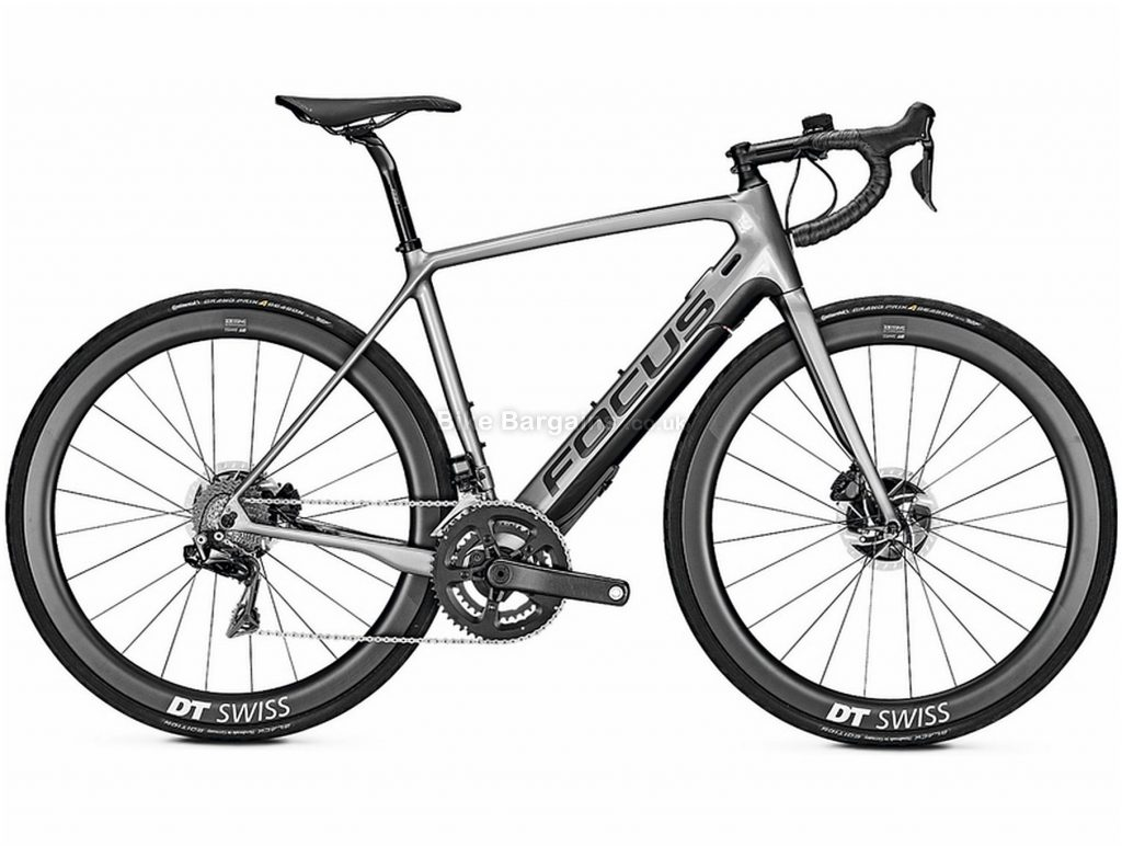 Focus Paralane2 9.9 Carbon Electric Bike 2020 51cm, Grey, Black, Carbon Frame, Disc Brakes, 22 Speed, Men's, Dura-Ace Groupset, 700c Wheels, Double Chainring