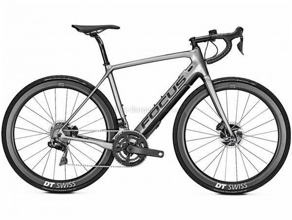 Focus Paralane2 9.9 Carbon Electric Bike 2020 L, Grey, Black, Carbon Frame, Disc Brakes, 22 Speed, Men's, Dura-Ace Groupset, 700c Wheels, Double Chainring
