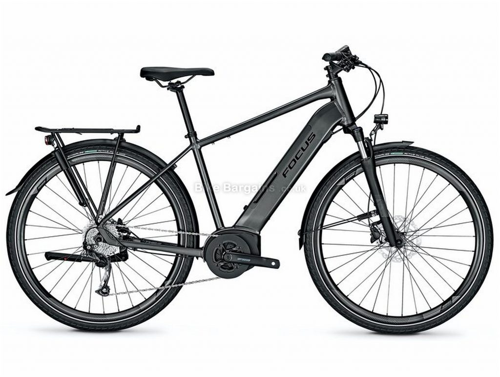 Focus Planet2 5.7 Alloy Electric Bike 2020 M, Black, Alloy Frame, Disc Brakes, 9 Speed, Men's,  , 700c Wheels, Single Chainring