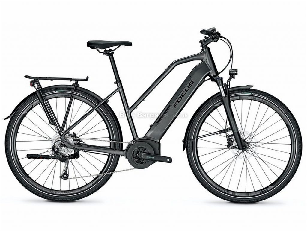 Focus Planet2 5.7 Step Thru Ladies Alloy Electric Bike 2020 S, Black, Alloy Frame, Disc Brakes, 9 Speed, Ladies,  , 700c Wheels, Single Chainring