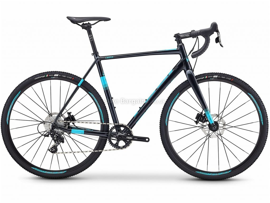 Fuji Cross 1.3 Cyclocross Bike 2020 49cm, Black, Blue, Alloy, 700c, Disc, Single Chainring, 11 Speed