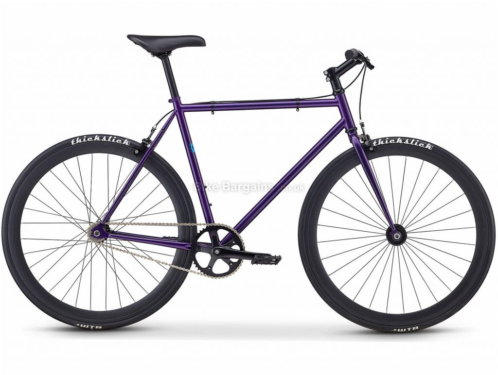 Fuji Declaration Urban Track Bike 2020 49cm, Purple, Steel Frame, Caliper Brakes, Single Speed, Single Chainring, 700c Wheels