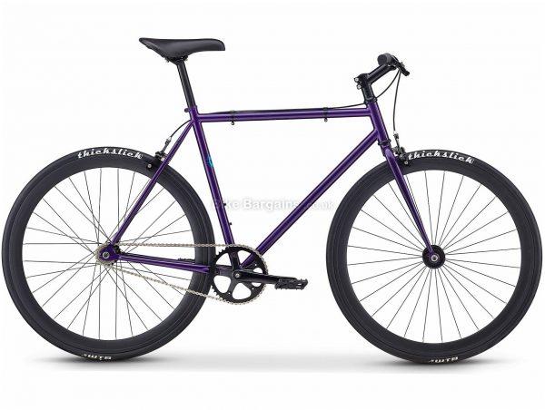 Fuji Declaration Urban Track Bike 2020 58cm, Purple, Steel Frame, Caliper Brakes, Single Speed, Single Chainring, 700c Wheels
